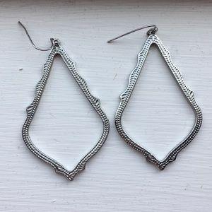 Silver Kendra Scott earrings